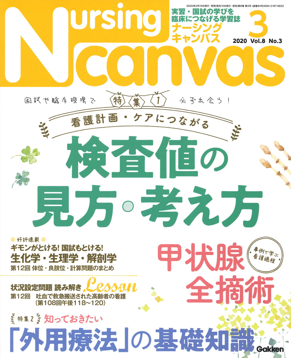 『Nursing Canvas2020年3月号Vol.8No.3』